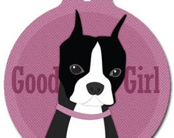 Good Girl - Boston Terrier Pet ID Tag