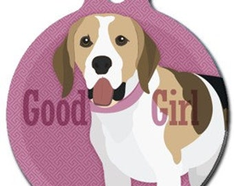 Good Girl Beagle Dog ID Tag - Custom, Metal, Fully Personlized - Higher Quality