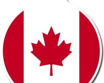 Canadian Flag Pet ID Tag - Custom, Metal, Fully Personlized - Higher Quality