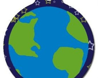 The Whole Earth Pet Tag - Custom, Metal, Fully Personlized - Higher Quality