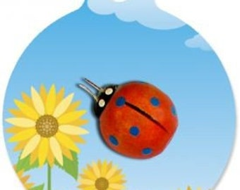 Lady Bug Pet Tag - Custom, Metal, Fully Personlized - Higher Quality