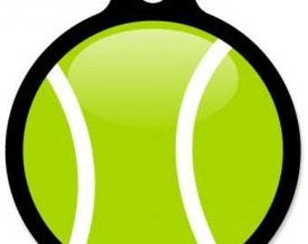 My Tennis Ball Pet Tag - Custom, Metal, Fully Personlized - Higher Quality