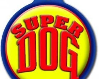 Super Dog Pet ID Tag - Custom, Metal, Fully Personlized - Higher Quality