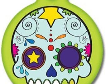 Dia de los Muertos Pet ID Tag - Custom, Metal, Fully Personlized - Higher Quality