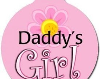 Daddys Girl Tag - Custom, Metal, Fully Personlized - Higher Quality