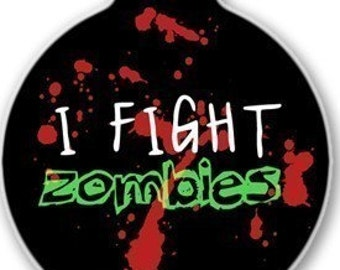 Zombie Fighter ID Tag