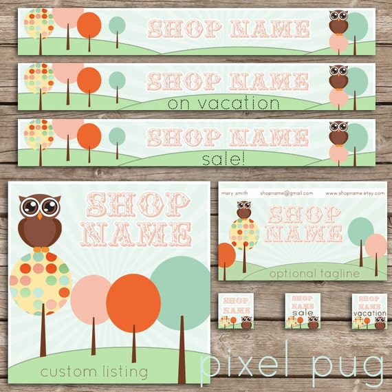 3 Banners, 3 Avatars, Custom Listing, Thank You, FREE Business Card