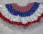 Super Tiny Miss America Multi Texture MIX-UP Twirl Skirt TuTu Pettiskirt OOAK Girl's sz 18/24M Ready to Ship