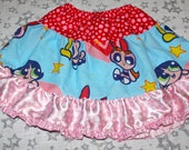 Power Puff Girls MIX-UP Twirl Skirt OOAK Girl's sz 5 - Ready to Ship