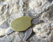SAVE THE GULF turtle necklace