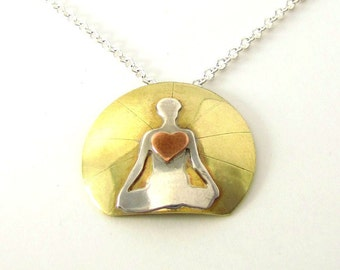 Meditation Necklace, Yoga Love