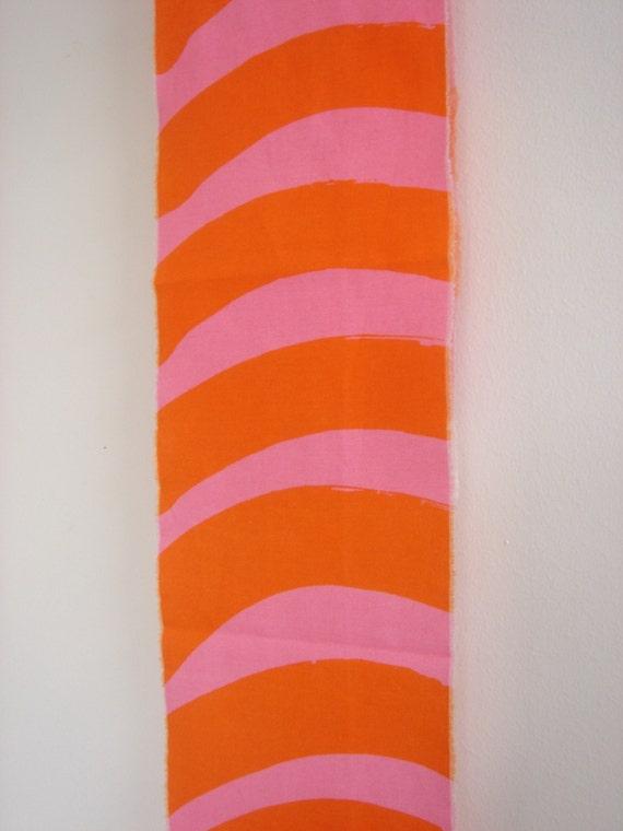Marimekko Fabric Scrap fabric - Small piece with Shocky Pink and Orange