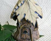 Woodland Fairy Lantern with Grape Leaf Roof