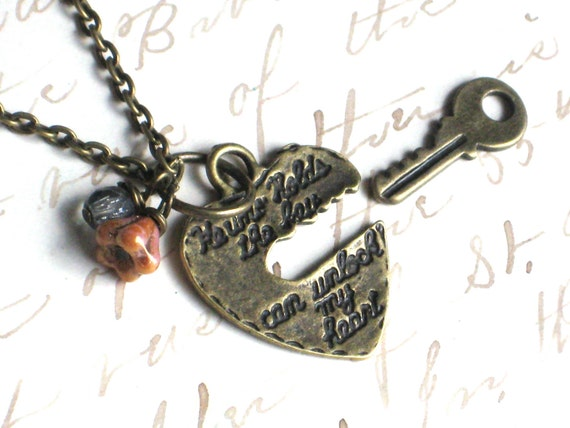 He Who Holds the Key can Unlock my Heart Boyfriend and Girlfriend Matching Necklace and Bracelet Set
