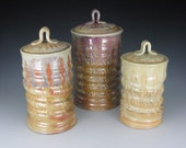 Shino Set of Three Canisters
