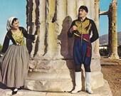 8 Vintage Costume Postcards - Greece - Europe