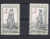 Set of Five Postage Stamps - Historical Costumes