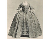 6 Vintage Costume History Postcards 1750-1805 Europe and USA
