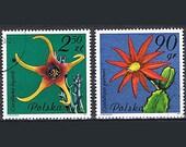 33 Vintage Postage Stamps - Cacti