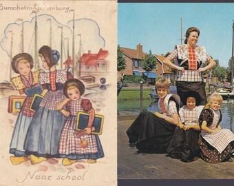 6 Vintage Costume Postcards - Spakenburg - Netherlands - Europe