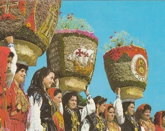 8 Vintage Folklore Postcards - Europe