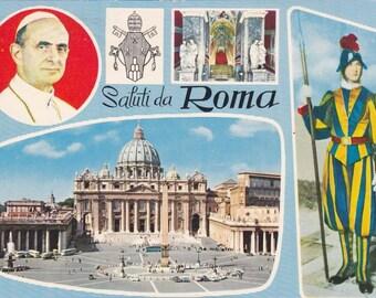 4 Vintage Uniform Postcards - Vatican City - Europe