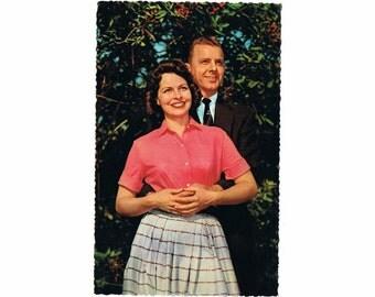 2 Vintage Costume Postcards - Glamour 1950