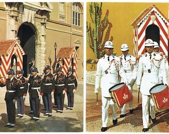7 Vintage Uniform Postcards - Monaco