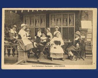 7 Vintage Costume Postcards - Historical Costumes - Netherlands - Europe