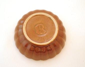 Vintage Dutch Pudding Bowl - Brown