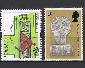 43  Postage Stamps - Crosses - Christianity - Religion