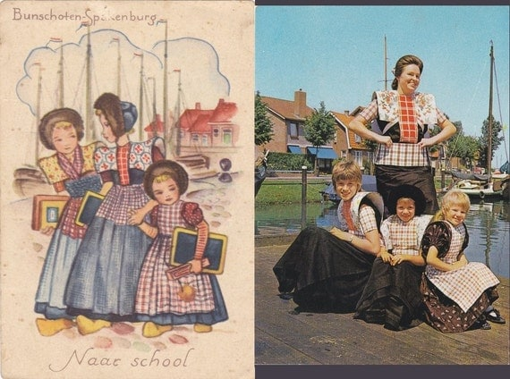 6 Vintage Costume Postcards - Spakenburg - Netherlands - Europe