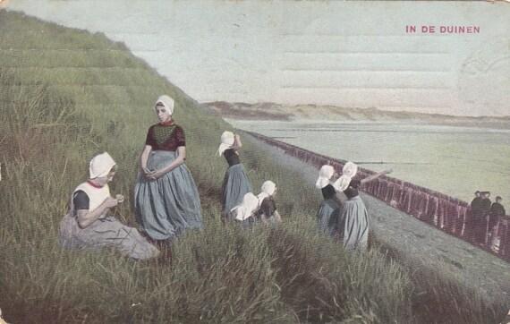 4 Vintage Costume Postcards - Zeeland - Netherlands - Europe