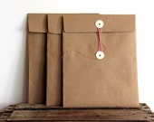 Kraft Button Tie Envelope for 8.5 x 11 papers (3)