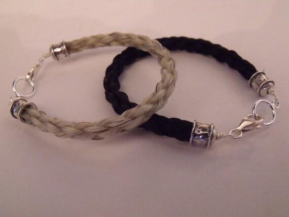 Horse Hair Bracelet - Sterling Viking Caps