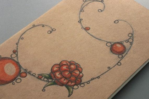 Salmonberry Twist - Blank Notebook