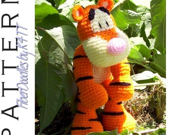 INSTANT DOWNLOAD : KISS Series - Bounce the Tiger Crochet Pattern