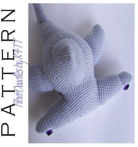 INSTANT DOWNLOAD : Halfpenni the Hammerhead Shark Crochet Pattern