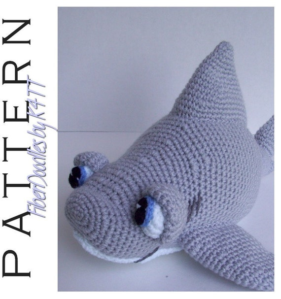 INSTANT DOWNLOAD : Chum the Great White Shark Crochet Pattern