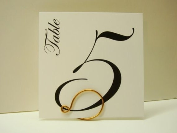 Special Listing for Molly Table Numbers Elegant Custom Color