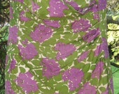 Great Bomb Shell 1940s 1950s Purple Green Floral Bathing Suit Swimsuit Cotton. Way Hot Larger size