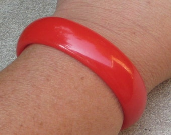 Sale Sale Wanna Bite Of My Candy Apple Red Bakelite Cuff Bracelet