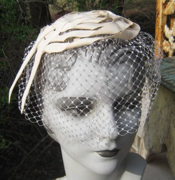 Sweet Chic Vintage  Skull Ribbon Netting Hat Use  A Wedding Hat