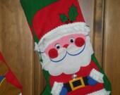 Santa Christmas Stocking 1 of set of 3 left