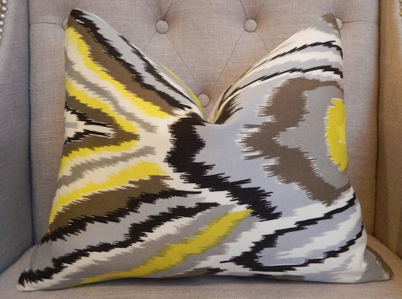 Decorative Designer Lumbar Pillow cover-  14X18 - Trina Turk  Peacock  print  in driftwood