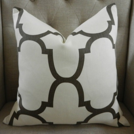 Decorative Designer Pillow Cover - 18X18 -Windsor Smith for Kravet  - Riad print  in Clove