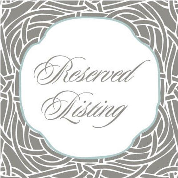 Custom listing for Lindsay