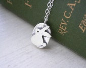 Bunny Rabbit Pendant - Animal Silver Necklace - everyday jewelry