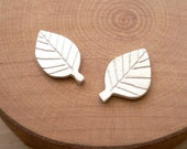 Leaf Stud Earring - Artisan Silver Jewelry