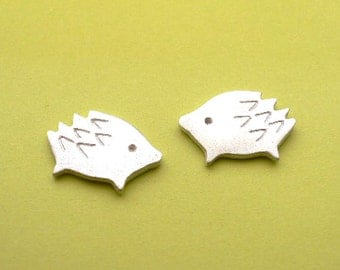 Animal Stud Earring - handmade silver jewelry - Boar (Wild Pig)